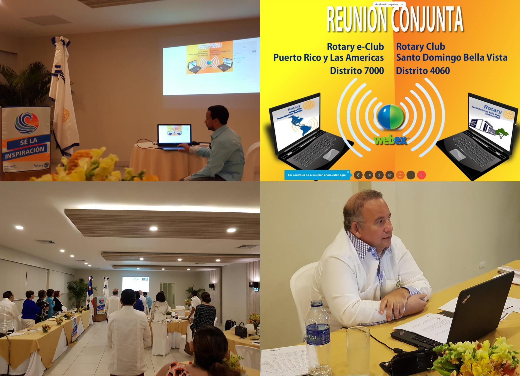 Conjunta Online clubes Rotarios E-Club de Puerto Rico y las Américas y Rotary Santo Domingo Bella Vista